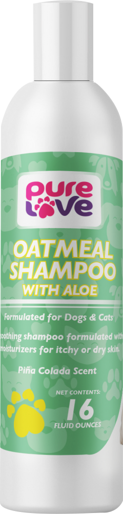 Pure Love Oatmeal Shampoo with Aloe for Dogs and Cats