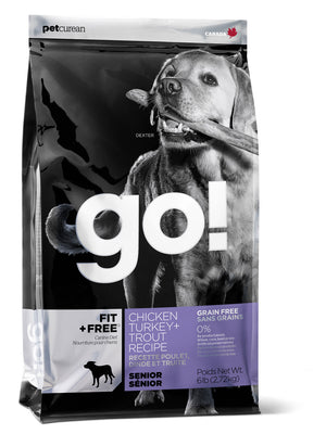 Petcurean Go! Fit and Free Grain Free Senior Recipe Dry Dog Food