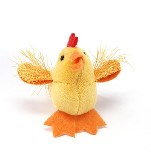 MultiPet Look Who's Talking Chicken Cat Toy