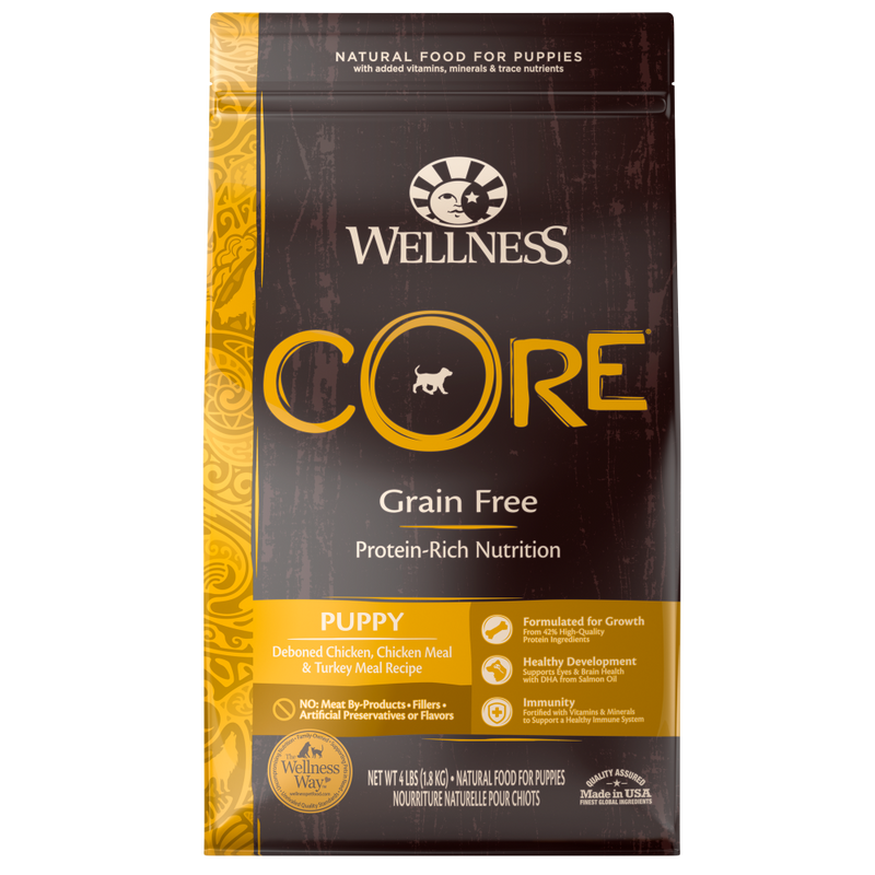 Wellness CORE Grain Free Natural Puppy Health Chicken and Turkey Recipe Dry Dog Food
