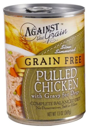 Against the Grain Pulled Chicken in Gravy Canned Dog Food