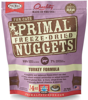 Primal Freeze Dried Nuggets Grain Free Turkey Formula Cat Food
