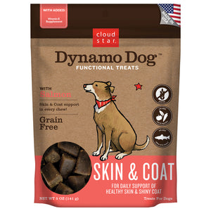 Cloud Star Dynamo Dog Functional Soft Chews Skin and Coat Salmon Dog Treats