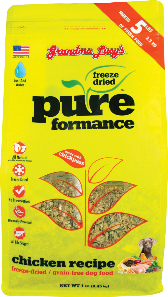 Grandma Lucy's Pureformance Chicken and Chickpea Freeze Dried Grain Free Dog Food