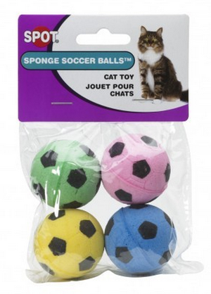 Ethical Pet SPOT Sponge Soccer Balls Cat Toy