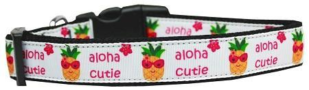 Pineapple Aloha Cutie Nylon Dog Collar