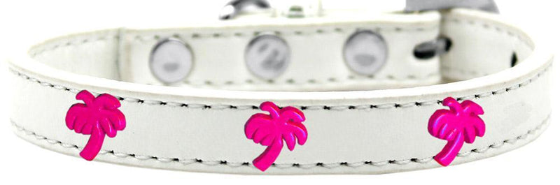 Pink Palm Tree Widget Dog Collar