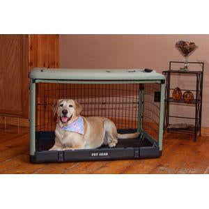 The Other Door Steel Crate with Plush Pad 36""