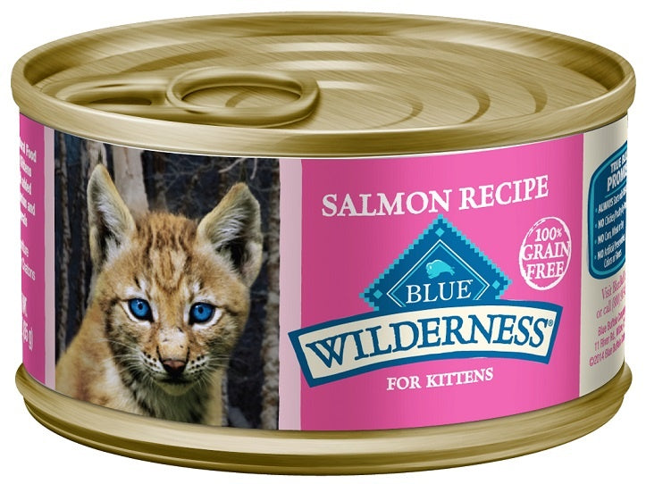 Blue Buffalo Wilderness Kitten Salmon Recipe Canned Cat Food
