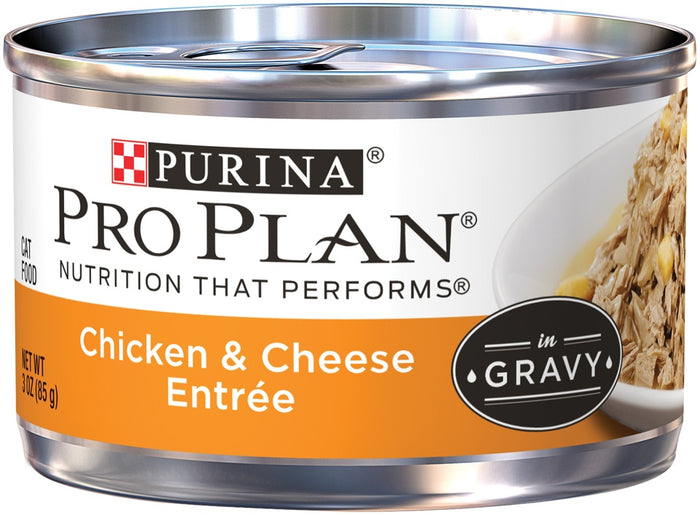 Purina Pro Plan Savor Adult Chicken and Cheese Entree in Gravy Canned Cat Food