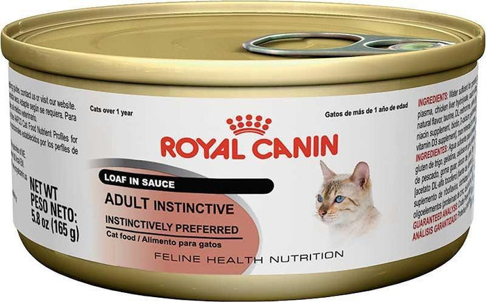Royal Canin Feline Health Nutrition Adult Instinctive Loaf in Sauce Canned Cat Food