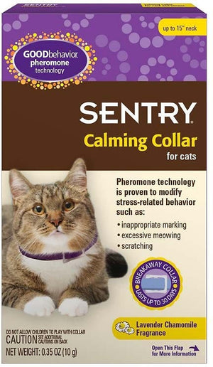 Sentry Good Behavior Pheromone Calming Collar for Cats