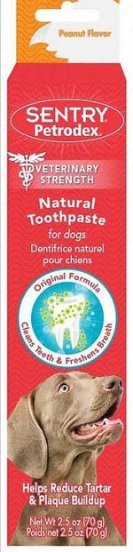 Sentry Petrodex Veterinary Strength Natural Peanut Flavor Toothpaste for Dogs