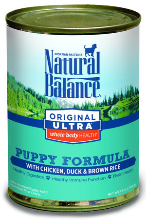 Natural Balance Original Ultra Whole Body Health Chicken, Duck and Brown Rice Puppy Formula Canned Dog Food