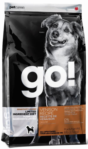 Petcurean Go! Sensitivity and Shine Limited Ingredient Venison Recipe Dry Dog Food
