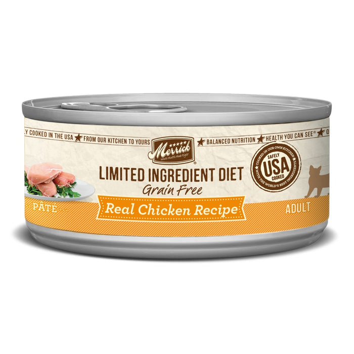 Merrick Limited Ingredient Diet Grain Free Real Chicken Pate Canned Cat Food