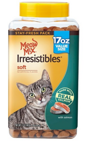 Meow Mix Irresistibles Soft Salmon Cat Treats