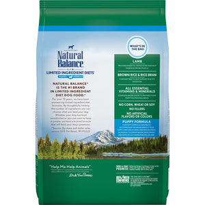 Natural Balance L.I.D. Limited Ingredient Diets Lamb and Brown Rice Puppy Formula Dry Dog Food