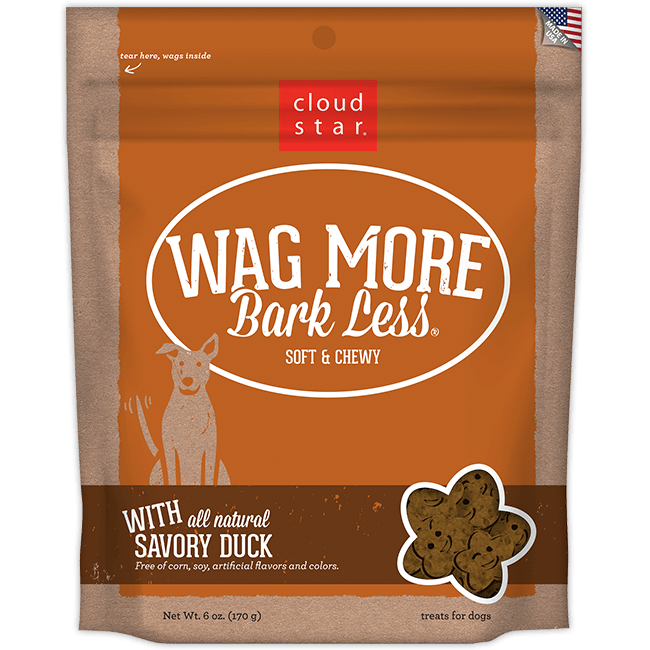Cloud Star Wag More Bark Less Soft and Chewy Savory Duck Dog Treats