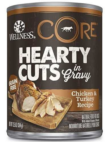 Wellness CORE Natural Grain Free Hearty Cuts Chicken and Turkey Canned Dog Food