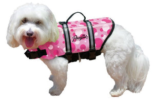 Pawz Pet Products Nylon Pink Bubbles Dog Life Jacket