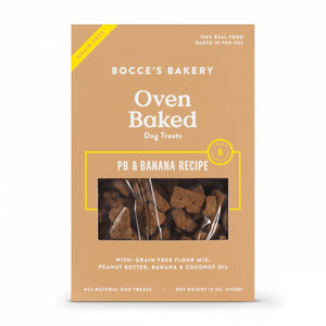 Bocce's Bakery Grain Free Peanut Butter & Banana Dog Biscuits