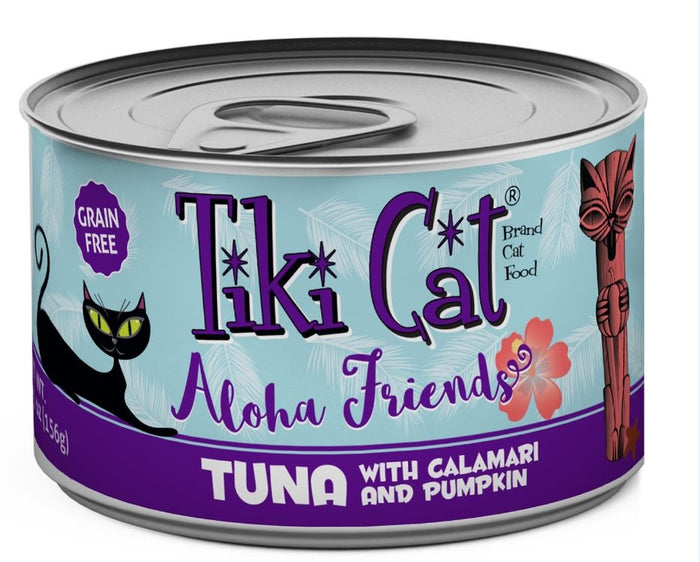 Tiki Cat Aloha Friends Grain Free Tuna with Calamari and Pumpkin Canned Cat Food