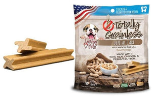 Loving Pets Totally Grainless Grain Free Chicken and Peanut Butter Recipe Dental Care Dog Treats