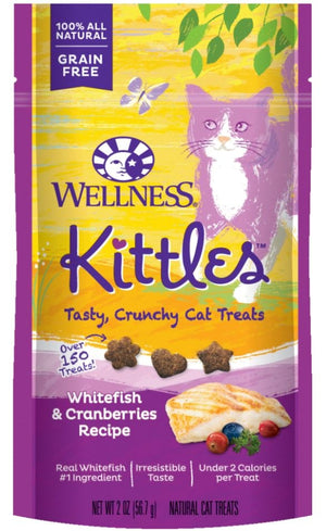 Wellness Kittles Grain Free Whitefish and Cranberries Recipe Crunchy Cat Treats