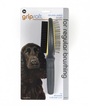 JW Pet Gripsoft Double Sided Brush for Dogs