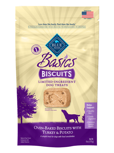 Blue Buffalo Basics Limited Ingredient Diet Turkey & Potato Biscuits Dog Treats