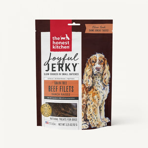 The Honest Kitchen Grain Free Joyful Jerky Beef Filets Dog Treats
