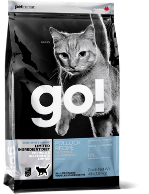 Petcurean Go! Limited Ingredient Diet Sensitivity and Shine Pollock Recipe Dry Cat Food