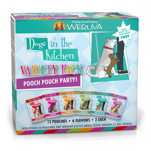 Weruva Dogs in the Kitchen Grain Free Pooch Pouch Party! Variety Pack Wet Dog Food Pouches