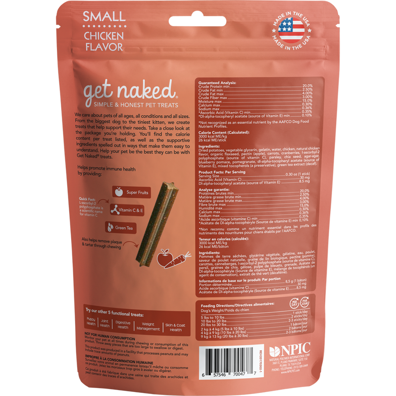 N-Bone Get Naked Grain Free Super Antioxidant Chicken Dental Dog Treats