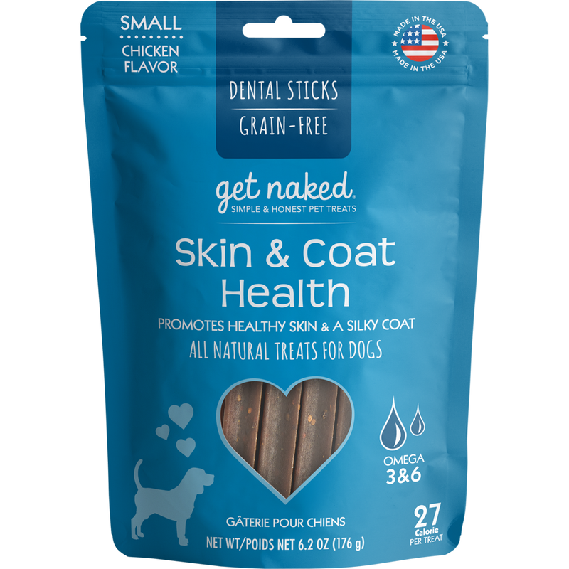 N-Bone Get Naked Grain Free Skin & Coat Dental Chew Dog Treats