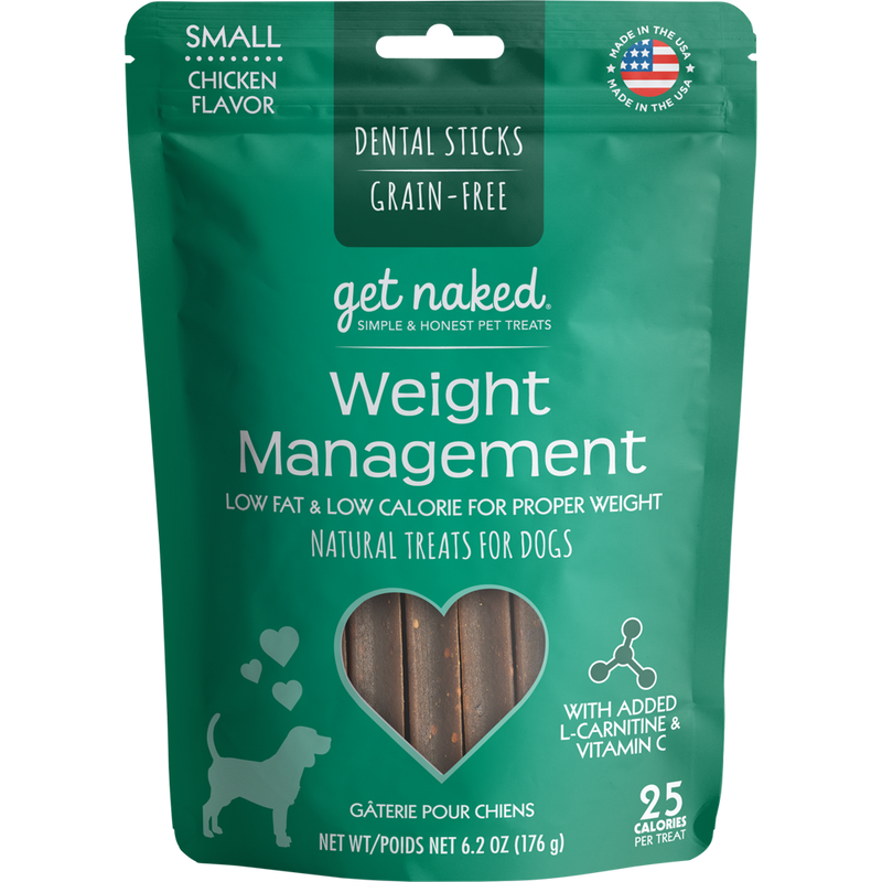 N-Bone Get Naked Grain Free Weight Management Dental Chew Dog Treats