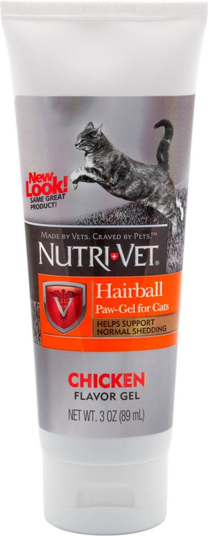 Nutri-Vet Hairball Chicken Flavor Paw-Gel for Cats