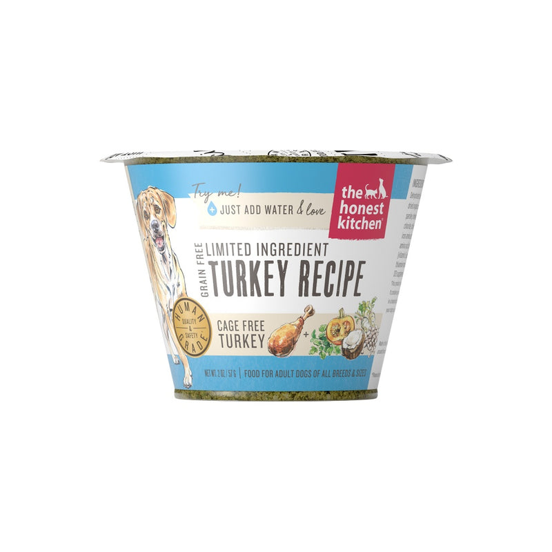 The Honest Kitchen Grain Free Limited Ingredient Turkey Recipe Dehydrated Dog Food Cups