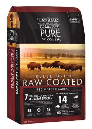 Canidae PURE Ancestral Grain Free Red Meat recipe with Lamb, Goat, & Wild Boar Raw Coated Dry Dog Food