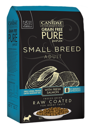 Canidae PURE Petite Small Breed Salmon Recipe Raw Coated Dry Dog Food