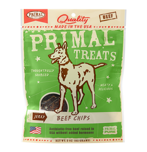 Primal Grain Free Jerky Beef Chips Dog Treats