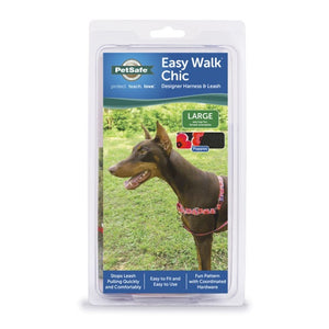 PetSafe Easy Walk Chic Poppies Dog Harness & Leash