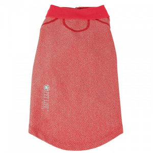 Pet Life Active Relax Stretch Fur Flexed Red Polo Dog T-Shirt