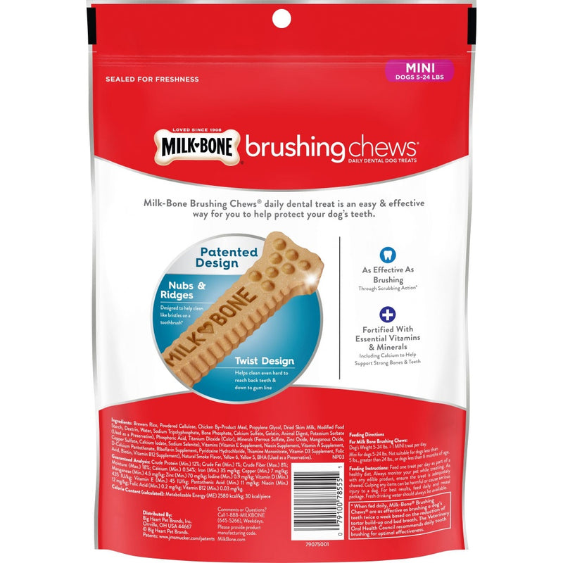 Milk-Bone Original Daily Dental Brushing Chews Mini Dog Treats