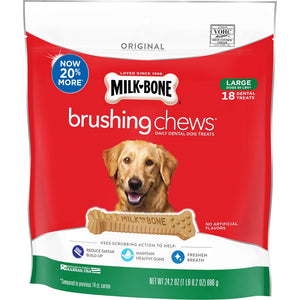 Milk-Bone Original Daily Dental Brushing Chews for Large Dogs