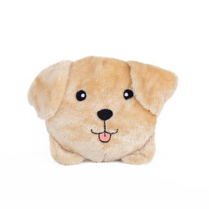 ZippyPaws Squeakie Buns Yellow Lab Plush Dog Toy