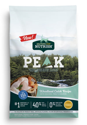 Rachael Ray Nutrish Peak Grain Free Woodland Catch Chicken, Trout, & Salmon Recipe Dry Cat Food