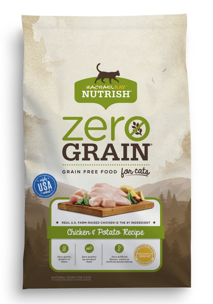 Rachael Ray Nutrish Zero Grain Natural Chicken & Potato Recipe Dry Cat Food
