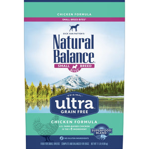 Natural Balance Original Ultra Grain Free Small Breed Bites Chicken Recipe Dry Dog Food